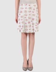 Just For You Knee Length Skirts White
