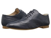 Massimo Matteo Wing Oxford Navy Women's Lace Up Casual Shoes