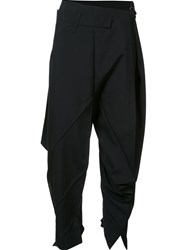 Issey Miyake Pleated Tapered Trousers Black