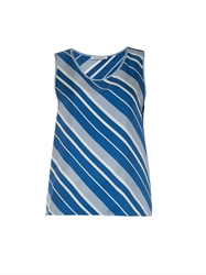 J.W.Anderson Diagonal Striped Silk Tank Top