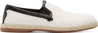 Dolce And Gabbana Offwhite Woven Espadrilles