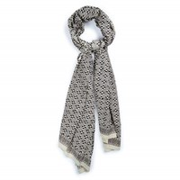 Kopal Kopal Loves Piece And Co Scarf Black And White