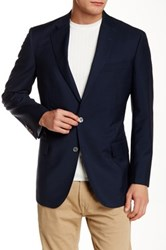Brooks Brothers Blue Sharkskin Notch Lapel Two Button Suit Separates Jacket