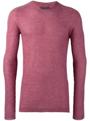 Laneus Crew Neck Jumper Pink Purple