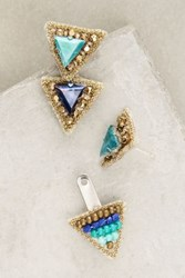 Anthropologie Delta Jacket Earrings Mint