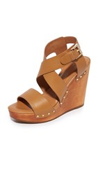 Joie Cecilia Wedge Sandals Cuoio