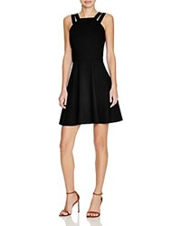 French Connection Whisper Light Double Strap Dress Black