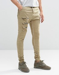 Sik Silk Siksilk Hareem Jeans With Thigh Rips Stone