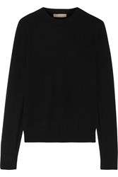 Michael Kors Split Cuff Cashmere Sweater Black