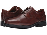 Rockport Dressports Luxe Cap Toe Ox New Brown Men's Lace Up Cap Toe Shoes