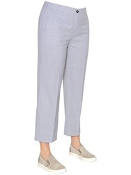 Marina Rinaldi Cropped Stretch Wool Pants