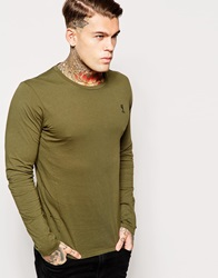 Religion Jersey Long Sleeve Top Khaki