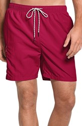 Tommy Bahama Men's Big And Tall 'Happy Go Cargo' Swim Trunks Ruby Red