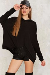 Far And Wide Hooded Sweater Black