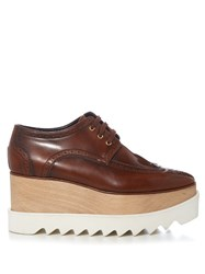 Stella Mccartney Elyse Lace Up Platform Brogues Burgundy