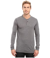 Fjall Raven Lappland Merino Henley Long Sleeve Grey Men's Clothing Gray