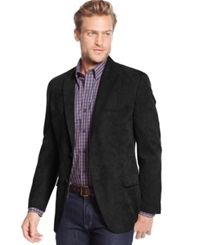 Tasso Elba Classic Fit Microsuede Sport Coat Only At Macy's Black