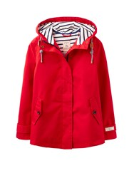 Joules Waterproof Hooded Jacket Red