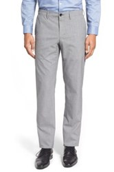 Calibrate Modern Slim Fit Chino Trousers Gray