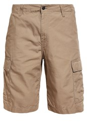 Carhartt Wip Columbia Shorts Leather Rinsed Beige