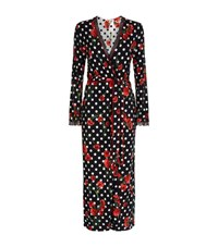 Louis Feraud Floral Polka Dot Robe Female Multi