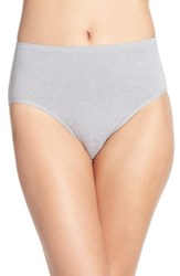 Nordstrom Women's Lingerie Seamless Full Briefs Grey Sleet Heather
