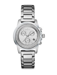Breil Milano Orchestra Chronograph Crystal And Stainless Steel Bracelet Watch Silver