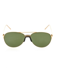 Linda Farrow Sports Luxe Aviator Style Sunglasses