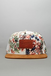 Forever 21 Reason Floral Snapback Hat Cream