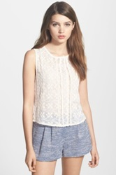 Chelsea 28 Sleeveless Embroidered Top White