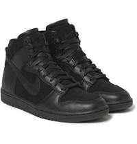 Nike Tz Dunk Faux Shearling Lined Leather Sneakers