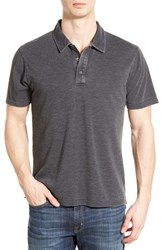 Men's Threads For Thought 'Blake' Washed Organic Cotton Blend Polo Black