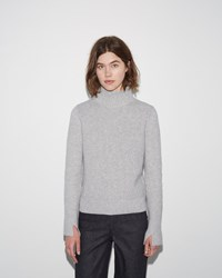 Proenza Schouler Flared Sleeve Turtleneck Light Grey Melange