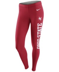 Nike Women's Ohio State Buckeyes Leg A See Tights Red