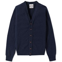 Jamiesons Of Shetland Jamieson's V Neck Cardigan Blue