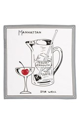 Men's Calibrate 'Manhattan' Cotton And Silk Pocket Square