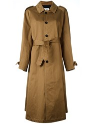 Barena Classic Trench Coat Brown
