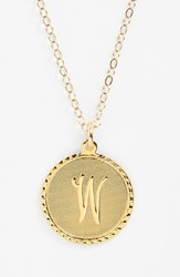 Women's Moon And Lola 'Dalton' Initial Pendant Necklace Gold W