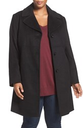 Larry Levine Plus Size Women's Wool Blend Walker Coat