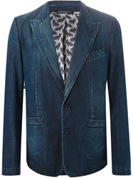 Dolce And Gabbana Denim Blazer Blue