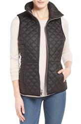 Andrew Marc New York Women's Marc New York 'Ellis' Zip Front Quilt Vest Black