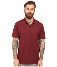 Rvca Sure Thing Ii Polo Tawny Port Men's Short Sleeve Knit Red