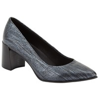 John Lewis Kin By Agneta Pointed Toe Court Shoes Navy Metallic