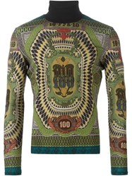 Jean Paul Gaultier Vintage Printed Roll Neck Sweater Multicolour