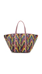 M Missoni Tribal Zigzag Beach Bag Royal