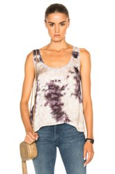 Enza Costa Loose Scoop Tank Top In Purple Ombre And Tie Dye Purple Ombre And Tie Dye