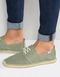 Soludos Lace Up Espadrilles Green