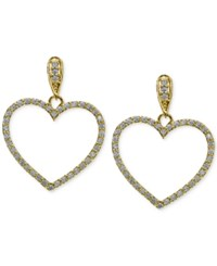 Giani Bernini Cubic Zirconia Pave Heart Drop Earrings In 18K Gold Plated Sterling Silver Only At Macy's