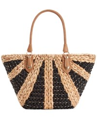 Straw Studios Structured Dome Straw Tote Natural