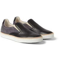 Maison Martin Margiela Suede And Leather Slip On Sneakers